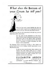 British advertisements: (painting in light) Tags: ad advert advertisement sell selling 1934 british england illustration drawing elizabeth arden makeup cosmetics old bond street