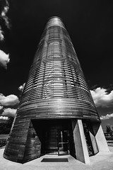 20150821 - Aquatower Berdorf-3 (OliGlo1979) Tags: berdorf d810 luxembourg monument nikkor1424 nikon watertower aquatower blackwhite bw ultrawide dramatic