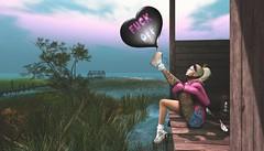 ❤️ A message for sadness. (ℒιdsα) Tags: boldampbeauty tadesigns emporium blueberry smc deliriumstyle vinyl balloon fuckoff girl beauty beautiful cute blonde snapshot itdoll doll avatar mesh lotd fashion pink jeans denim socks bird blog blogger photo tattoo