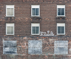I'm a climber, not a speller (A Different Perspective) Tags: detroit michigan usa brick city forgotten greektown heart never spelling text wall window