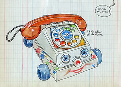 fisherprice (lapin barcelona) Tags: sketch sketchbook urbansketchers carnet carnettiste watercolor france bretagne