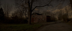 365-101 (• estatik •) Tags: 365101 365 101 april112017 41117 tues tuesday night kingwood nj new jersey hunterdon county babtistown farm barn garage decay old crumbling forgotten abandoned long exposure panorama