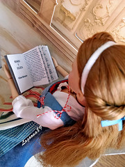 Belle and her favourite book (Lagoona89) Tags: disney beauty beast belle book library peasent