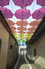 Colorful Umbrellas (藍川芥 aikawake) Tags: umbrella colorful color colour enjoy light shadow beautiful love awesome art kid running runway street feeling design 彩色 雨傘 裝置藝術 孩子 奔跑 享受 生活 child happy 卡里善之樹
