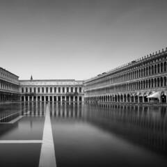 Acqua Alta 3 (Rohan Reilly Photography) Tags: rrsignature fineart venice venezia acquaalta monochrome italy flood san marco long exposure