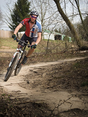 Ironman (Bailiwick Studios) Tags: mountainbiking outdoors color bike mountainbike trail sports park wheel helmet bikehelmet dirttrail recreation westmichigan olympus microfourthirds micro43 olympus40150mmf4056r sport