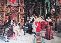 A Blessing from his Eminence (pefkosmad) Tags: ablessingfromhiseminence painting art salvadorviniegraylasso falcon baroque spanish cardinal church catholic 1500pieces complete used secondhand jigsaw puzzle hobby leisure pastime