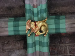 Winged Lion (Aidan McRae Thomson) Tags: worcester cathedral worcestershire medieval roofboss bosses carving