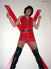 DSCN1013 Club in latex (myryamdefrance) Tags: transgenre travesti transvestite transgender tgirl tranny tv tg tgirlsmile hottgirl hottranny hotcrossdresser hooker latexoutfit latex redskirt redoutfitlatex clubbing