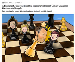 Jeff Cogen | Willamette Week (Lovatto Ilustrador) Tags: lovatto lovattoilustrador willamette week newspaper portland oregon usa eua multnomah county jeff cogen illustration drawing desenho dibujo editorial illo chess chessboard non profit ong