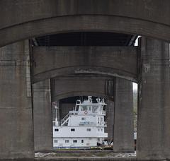 New Dawn (David Sebben) Tags: towboat piers centennial bridge mississippi river