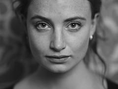 Lily (Erik de Klerck) Tags: portrait portret headshot shallow shallowdof samyang samyang135mmf20edumc f2 eyes blackandwhite black white d800 nikon