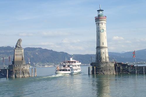 Ingresso porto di Lindau - Germania - Entrance of Lindau Harbour - Germany