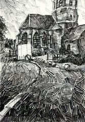 Eglise de Marquise (tintin62100) Tags: église patrimoine marqueur dessin drawing