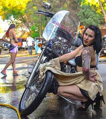 Betty Boop Washes Motorcycles. Gateway Saloon. Vernal, Utah (Jeff in Henderson) Tags: gatewaysaloon gateway bar vernal utah uintahcounty party motorcycle wash betty boop woman saloon vernalutah