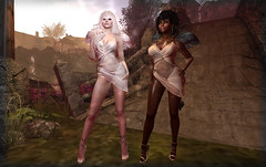 Eboni + Ivory (Alea Lamont) Tags: ndmd women skins woman shape unicorn skin black afro american female fantasy faire rfl wasabi pills dawns promise