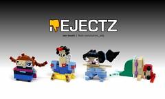 REJECTZ Series 2 - Disney Princesses (Ochre Jelly) Tags: lego moc afol rejectz brickheadz disney princess mermaid aladdin frozen elsa dwarves movies