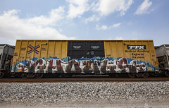 (o texano) Tags: houston texas graffiti trains freights bench benching ghouls wh sws d30 a2m adikts