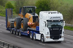 YN61 AEO (panmanstan) Tags: scania r620 wagon truck lorry commercial lowloader freight transport haulage vehicle m18 motorway langham yorkshire