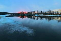 Lieksanjoki (aimoräty) Tags: lieksa finland lieksanjoki river water sunrise ice
