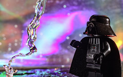 The Technicolour Side.  87-365. (FadeToBlackLP) Tags: starwars darth vader force rainbow darthvader taken dark side flow water lego macro creative