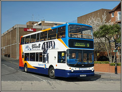 18169, Leopold Street (Jason 87030) Tags: leopoldst street road ramsgate westwood canterbury 9 dennis trident alx400 doubledecker thanet holiday april 2017 sony sunny light bus vehicle publictransport gx54dvm 18169 stagecoach