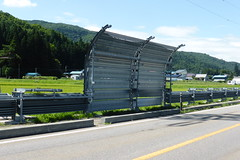Snow shutters (Stop carbon pollution) Tags: japan 日本 honshuu 本州 touhoku 東北 fukushimaken 福島県 cycletouring 自転車ツーリング