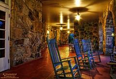 Covered Porch at the Mountain Lake Lodge in Pembroke VA (PhotosToArtByMike) Tags: mountainlakelodge coveredporch dirtydancing hotel pembrokevirginia va pembroke appalachianmountains stonebuilding night lowlight gilescounty patrickswayze jennifergrey southwesternvirginia naturepreserve