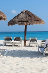 Cancun beach scene (Rachel219) Tags: beach huts cancun hyattregencycancun blinkagain