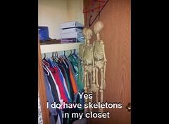 Skeletons in my closet (StevensonMetal) Tags: door house cute home halloween me closet skeleton skull photo funny open coat creepy spooky skeletons cloths pitcher hanger