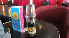 Not the right glass... but we were on a ferry! (deltrems) Tags: brown beer ferry belgium leffe belgian brune pando