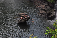 Nothing But Air (BKHagar *Kim*) Tags: water kids swim river climb al jump rocks alabama falls waterfalls littlerivercanyon ftpayne gaylesville bkhagar