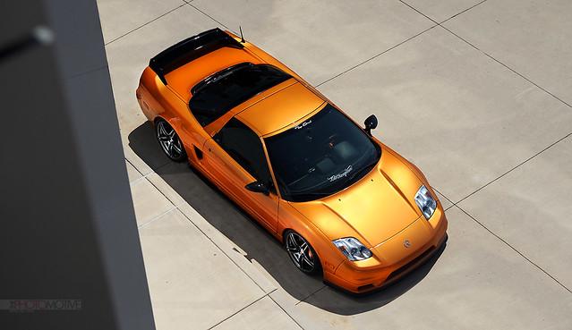 orange chicago honda society acura nsx slammed model5 imola advan jdmc jdmchicago