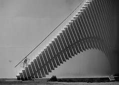Stairway Shadow (gordeau) Tags: shadow bw stairs gordon repetition wyoming ashby lovell challengeyouwinner flickrchallengegroup flickrchallengewinner thechallengefactory gordeau