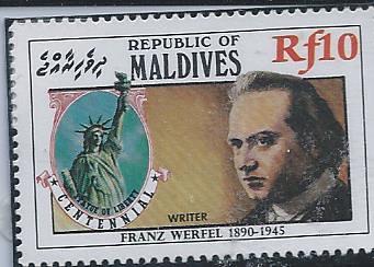 Republic of Maldives U.S. Jewish Author Franz Werfel Stamp 183