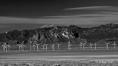 Windmills (San Francisco Gal) Tags: blackandwhite bw nature windmill monochrome landscape nevada bn valley wheelerpeak windmillfarm greatbasinnationalpark vpu2 vpu4