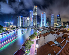 Night Delight (Scintt) Tags: show city travel light sky urban panorama motion reflection tourism water lines skyline architecture modern night clouds marina buildings boats evening bay hall movement singapore long exposure colours slow place skyscrapers display vibrant district pano trails structures dramatic celebrations shutter laser destination metropolis cbd rays financial stitched beams built offices shophouses mbs raffles scintillation scintt