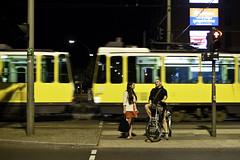 Woman, Man;Tram