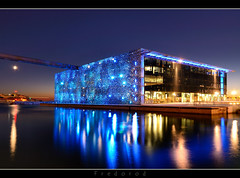 MuCEM (Fujjii photographie) Tags: sea france colors beautiful architecture night marseille muse bluehour vieuxport j4 mditerrane civilisations longexposition poselongue mucem fujjii fredorod bistrophoto