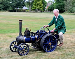 "4"" Burrell at the SCMTEG Steam-up, August 10th 2013 (Jez B) Tags: scale model live traction engine engineering steam foster fowler burrel"