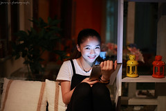 13083104 (ojang jerry) Tags: light playing girl beauty night digital eos 50mm laptop chinese young sigma charming fascinating communicate concentrated ipad digitaltablet 5d2 gettychina13q3