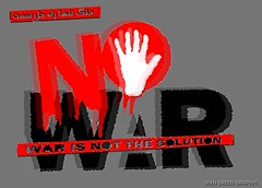 NO WAR ok 1 (IRAN GREEN POSTER) Tags: is war solution the    not