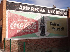 Coca-Cola ghost sign in Lead South Dakota (happily Evan after) Tags: building sign painting bottle mural paint image bottles drink south ghost ad coke advertisement american cocacola lead yourself dakota legion refresh