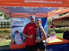 Todd Allen, MD and his daughter, Lauren, who competed in the race!