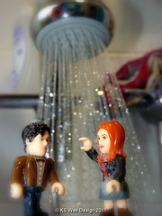 The Doctor & Amy in the shower