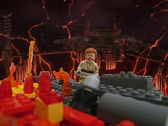 Lego duel on Mustafar touching moment (Aljan Custom) Tags: from 3 star lego scene wars sith episode the of reveng