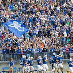"""<b>Homecoming Football 2013, Luther vs. Loras</b><br/> The Luther Football team dominated against Loras, winning 41-7 on Saturday, October 5, 2013. Photography by Jaimie Rasmussen<a href=""""http://farm3.static.flickr.com/2883/10128006683_63b197e3fc_o.jpg"""" title=""""High res"""">∝</a>"""