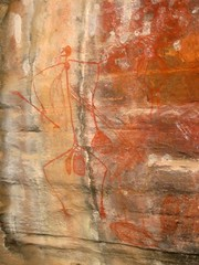 Aboriginal paintings, Kakadu National Park, Northern Territory, Australia