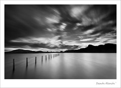 The lagoon of posts (Ramon Alarcon) Tags: bw blancoynegro largaexposicion d700 bigstopper 1635f4