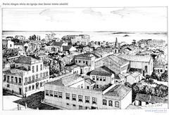 Porto Alegre vista da Igreja das Dores início sécXIX